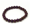 Purple Hematite Stone Stretch Bracelet