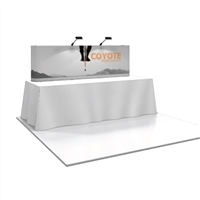 COYOTE 8' TABLE TOP POPUP DISPLAY (STRAIGHT)