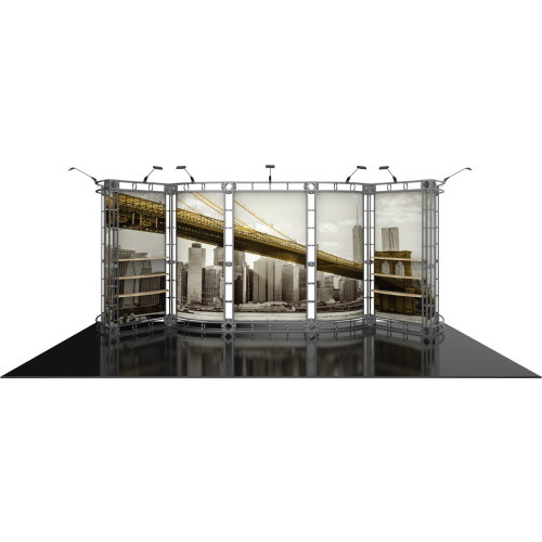 Omicron Orbital Express Truss 20ft Modular Exhibit | Trade Show Display Depot