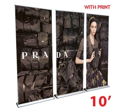10FT PREMIUM BANNER STAND WALL