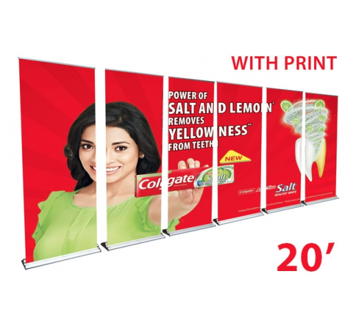 "20FT BANNER STAND WALL- 36"" BANNER STANDS"