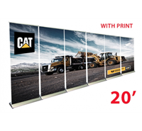 20FT BANNER WALL-PREMIUM BANNER STANDS 33.50X78