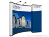 10x10 (10ft) Nomadic Instand Custom Pop Up Display with Backwall Monitor System - Trade Show Display Depot
