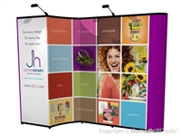 10x10 Nomadic Instand Custom Pop Up Display with Backwall Monitor System AB2011N