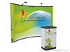 10ft (4x3) Instand Pop up Trade Show Display Curved Backwall Exhibit