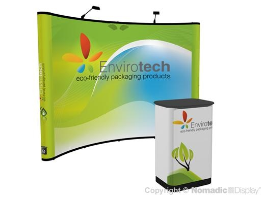 10X10 Instand Graphic Pop Up Curved Backwall