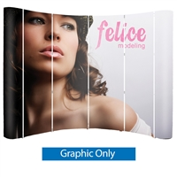Big Wave 10 Ft. (4x3) Curved Laminated Back Wall Pop-Up Graphic Exhibit Replacement Panels