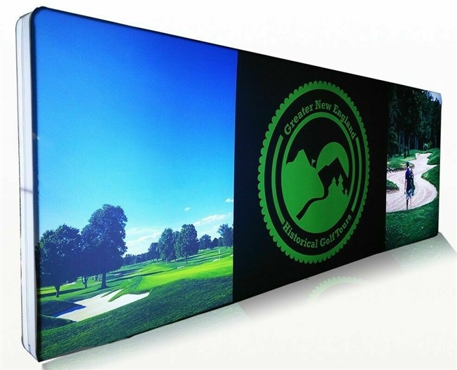 Huge 20' 10x20 Custom Printed Backlit LED Illuminated Pop Up Trade Show Display