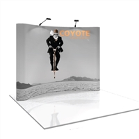 COYOTE 10 FT (4X3) CURVED MURAL POP UP DISPLAY KIT