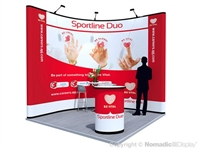 10x10 Corner Graphic Pop Up Display Kit