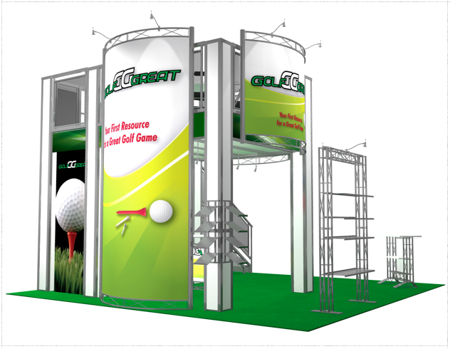 20 x 20 Golf Great Double Deck Truss Display System