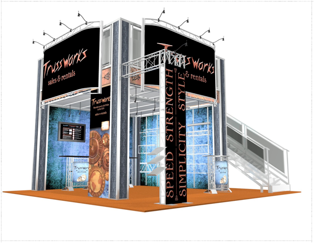 20 x 20 Trussworks Double Deck Truss Display System