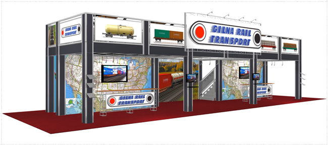 20 x 60 Gilna Rail Double Deck Truss Display System