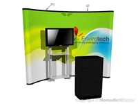 10ft Pop-Up Display with Full Graphics and Trade Show Shelf - DL31133N - Nomadic Foundation Curved Pop up | Trade Show Display Depot