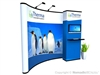 10x10 (10ft) Nomadic Instand Custom Pop Up Display with Backwall Monitor System | Trade Show Display Depot