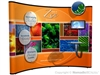 10ft (4x3) Instand Enhancement Pop Up Trade Show Display Curved Pop up Booth