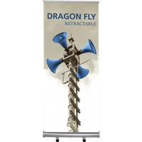 Dragon Double Sided Retractable Banner Stand