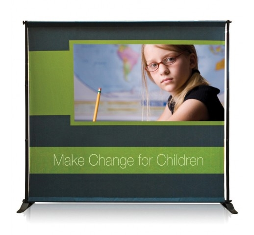 "EXHIBITOR ADJUSTABLE BANNER STAND, 48"" X 120"""
