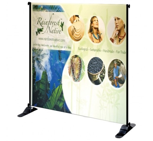 "Exhibitor Adjustable Banner Stand, 30"" x 48"""