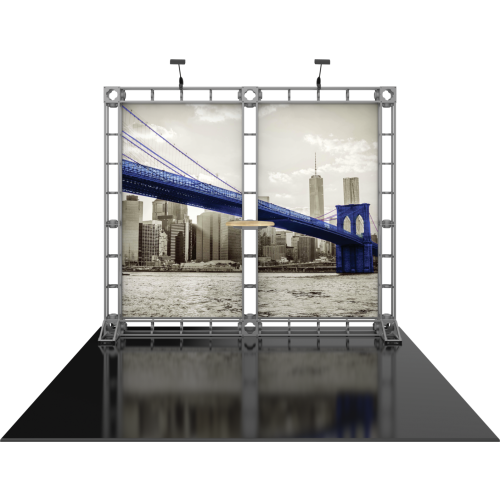 Hercules 09 10x10 Orbital Express Truss 10ft Modular Backwall | Trade Show Display Depot