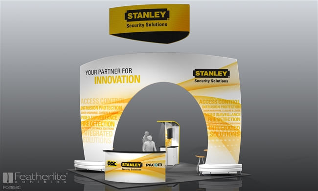 20x20 PO2958B-Stanley Medallion Two Tension Fabric System Structures