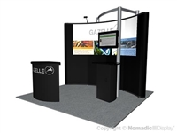 10ft Pop-Up Display with  Portable Backwall Modular Exhibit Stand - 10Nomadic Instand Pop Up Display
