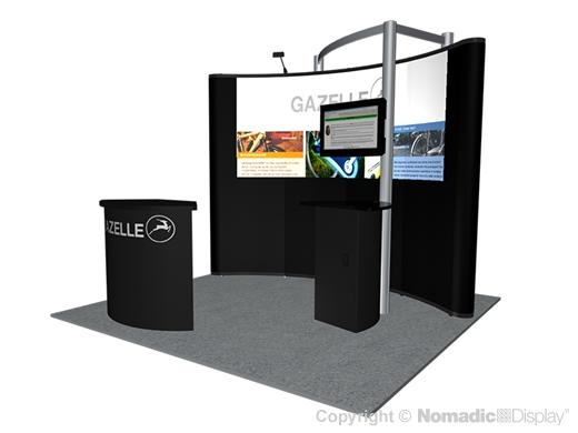 Nomadic Instand 10ft Pop-Up Display with Portable Backwall Modular Exhibit Stand - Trade Show Display Depot