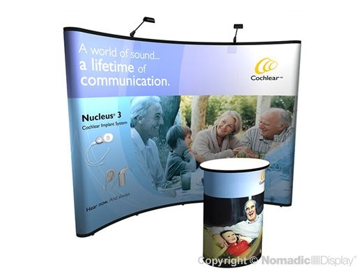 10x10 (10ft) Curved Instand Pop Up Display Booth and Trade Show Podium | Trade Show Display Depot