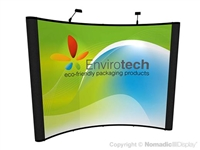 10x10 Curved Instand Pop Up Banner