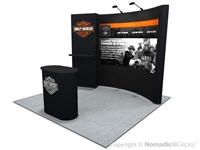 10x10 Nomadic Instand Flat Pop Up Display with Backwall Monitor System RT81231N