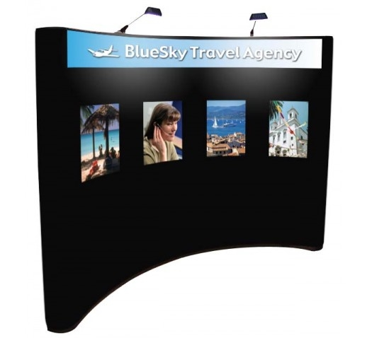"10' PopUp Display with 4 Graphic Panels, 18"" x 24"" Each"