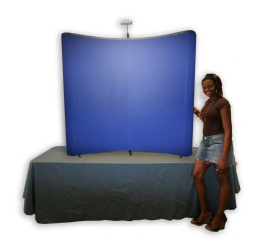 6' QUAD TABLE TOP POP UP DISPLAY, 2 FABRIC CENTER PANELS / 2 FABRIC END PANELS
