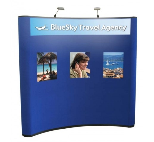 "8' Pop-Up Display with 3 Graphic Panels, 18"" x 24"""