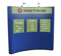 "8' POP-UP DISPLAY WITH 3 GRAPHIC PANELS, 24"" X 30"""