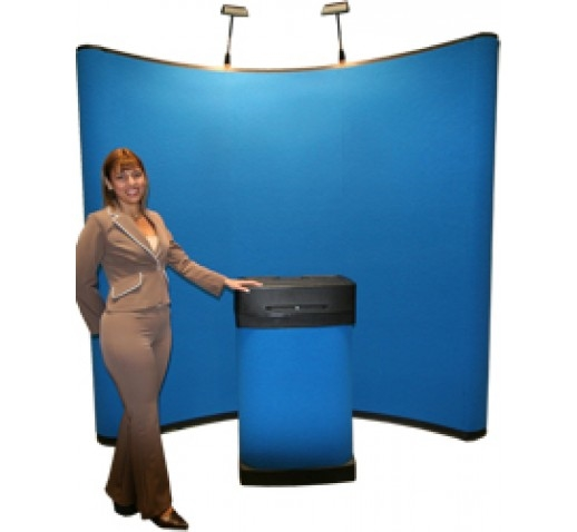 8' Pop-Up Display, Standard Package with 2 Halogen Lights