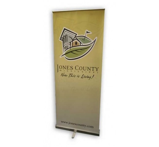 "Retractable Banner Stand - 33.50"" x 78"" H"