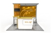 10x10 Solar L Modular Trade Show Exhibit Base Package