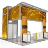 Solar L 20'x20' Modular Exhibit Booth - Base Package