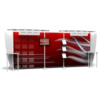 "20'X20' MODULAR DISPLAY - X2 6 LIGHT CANOPY,2 STRAIGHT LEG COUNTERS, 71""X82"" FABRIC GRAPHIC"