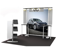 10'X10' 6 LIGHT CANOPY EXTRUSION DISPLAY WITH TWO COUNTERS