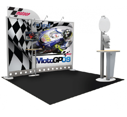 10'x10' Modular Trade Show Display with Two Halogen Spot Llights