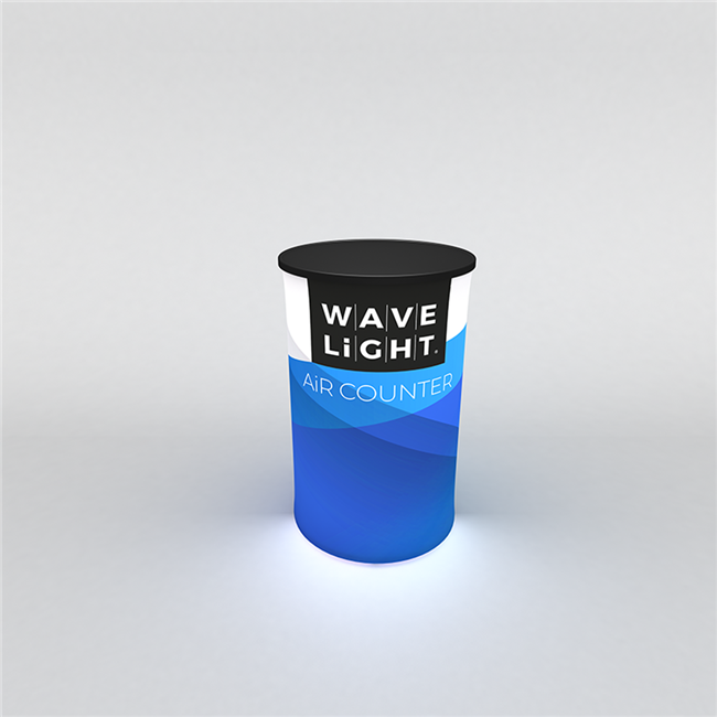 WaveLight Air Backlit Inflatable Counter - Circular