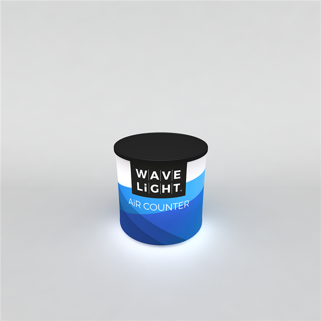 WAVELIGHT® AIR BACKLIT INFLATABLE COUNTER - CIRCULAR MINI