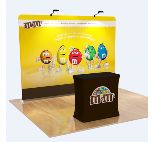 10' FLAT STRAIGHT WALL TENSION FABRIC DISPLAY