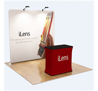 8' Flat Straight WaveLine Tension Fabric Display