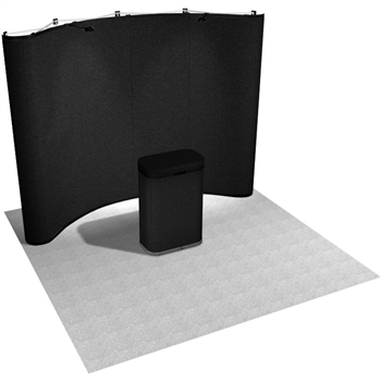 10' Velcro Receptive Curved Pop Up Display