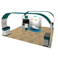 Barbados 20x20 Arch Trade Show Exhibit Kit