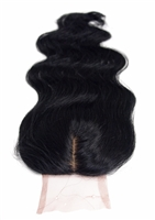 100% Virgin Brazilian Human Hair Silk Based Body Wave Closure 14""