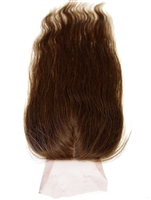 100% Virgin Brazilian Human Hair Silk Based Natural Wave Closure 14""