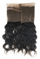 100% Virgin Remy Human Hair 360° Lace Frontal Closure - Body Wave